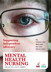 Mental Health Nursing June 2015  issue Mental Health Nursing June 2015