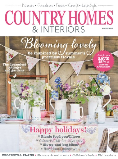 Country homes interiors magazine august 2015 for Home magazines