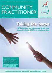 Community Practitioner April 2010 issue Community Practitioner April 2010