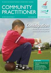 Community Practitioner July 2010 issue Community Practitioner July 2010