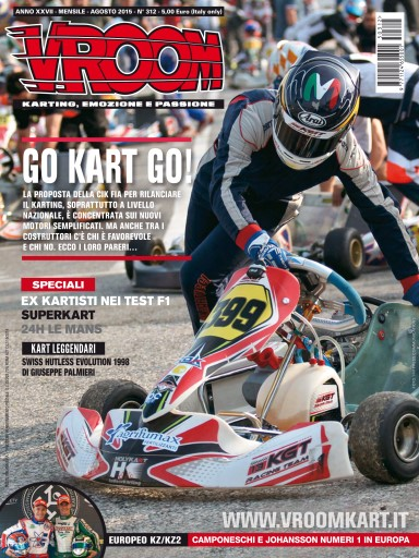 europa kart test Vroom Italia Magazine   n. 312   Agosto 2015 Subscriptions  europa kart test