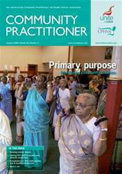 Community Practitioner January 2008 issue Community Practitioner January 2008