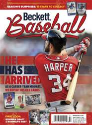 Beckett Baseball Magazine Cover