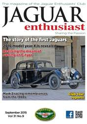 Vol. 31 No. 9 The story of the first Jaguars issue Vol. 31 No. 9 The story of the first Jaguars