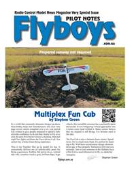 Multiplex Fun Cub Flyboys Pilot Notes #3 issue Multiplex Fun Cub Flyboys Pilot Notes #3