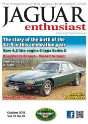 Vol. 31 No. 10 The story of the birth of the XJ-S issue Vol. 31 No. 10 The story of the birth of the XJ-S