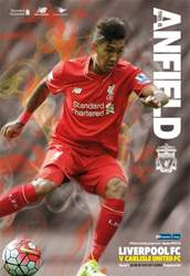 Liverpool v Carlisle United COC 2015/16 issue Liverpool v Carlisle United COC 2015/16