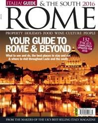 Italia! Guide to Rome & the South 2016 issue Italia! Guide to Rome & the South 2016