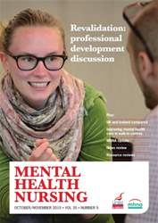 Mental Health Nursing October/November 2015 issue Mental Health Nursing October/November 2015