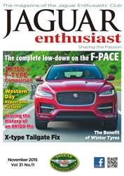 Vol. 31 No. 11 The complete low-down on the F-Pace issue Vol. 31 No. 11 The complete low-down on the F-Pace