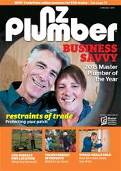NZ Plumber June-July 2015 issue NZ Plumber June-July 2015