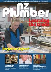 NZ Plumber August-September 2015 issue NZ Plumber August-September 2015