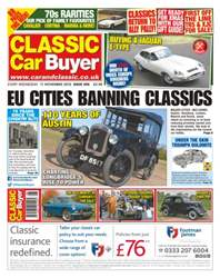 No. 305 EU Cities Banning Classics issue No. 305 EU Cities Banning Classics