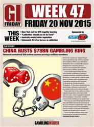 The Gambling Insider Friday Magazine Cover