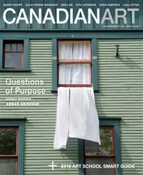 Canadian Art Digital Edition Magazine Cover