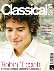 Classical Music 5th November issue Classical Music 5th November