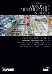 European Construction Survey 2015 issue European Construction Survey 2015