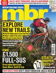 Mountain Bike Rider Magazine Cover