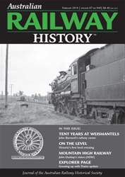 Australian Railway History Magazine Cover
