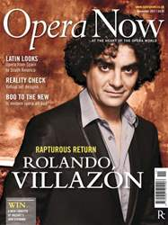 Opera Now November 2011 issue Opera Now November 2011