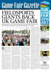 Game Fair Gazette issue 2 issue Game Fair Gazette issue 2
