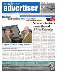 Argyllshire Advertiser Magazine Cover