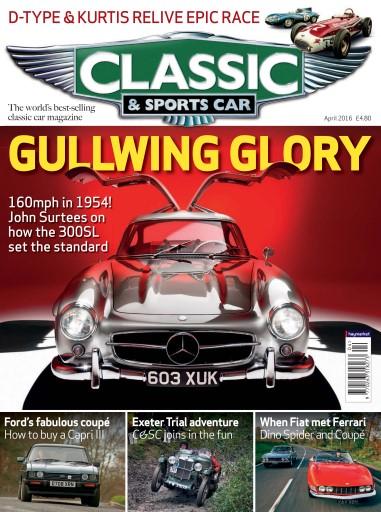 Classic Sports Car Magazine April Subscriptions Pocketmags - Sports cars magazine