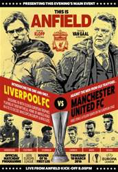 Liverpool v Manchester United Europa League 201516 issue Liverpool v Manchester United Europa League 201516