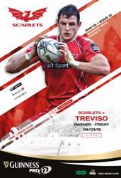 Scarlets Matchday Programme issue Benetton Treviso