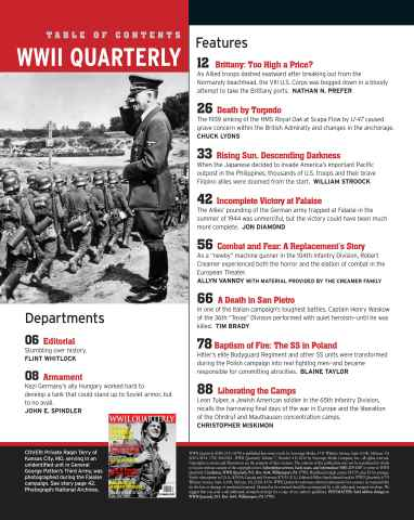 WWII QUARTERLY Spring 2017 Journal of the Second World War