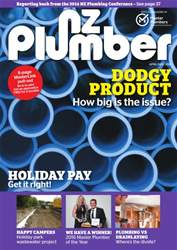 NZ Plumber April-May 2016 issue NZ Plumber April-May 2016