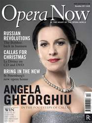 Opera Now December 2011 issue Opera Now December 2011