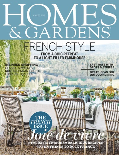 Homes Gardens Magazine August 2016 Subscriptions