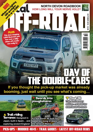 4x4 magazine incorporating total off road october 2016 subscriptions pocketmags. Black Bedroom Furniture Sets. Home Design Ideas