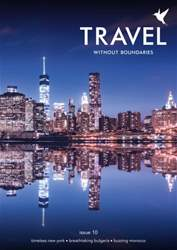 Travel Without Boundaries Magazine Cover