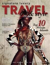 Signature Luxury Travel & Lifestyle Magazine Cover