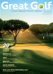 Great Golf Magazine Sept/Oct 2016 issue Great Golf Magazine Sept/Oct 2016