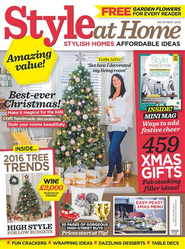 style at home magazine december 2016 subscriptions