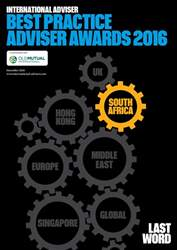 International Adviser Best Practice Adviser Awards – South Africa 16 issue International Adviser Best Practice Adviser Awards – South Africa 16
