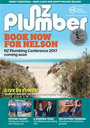 NZ Plumber December 2016-January 2017 issue NZ Plumber December 2016-January 2017