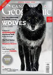 Canadian Geographic Magazine Cover