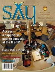 Say Magazine Magazine Cover