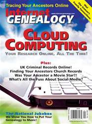 Internet Genealogy Magazine Cover