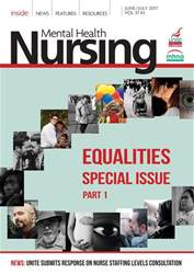 Mental Health Nursing Magazine Cover