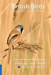 British Birds issue August 2017 |  Vol 110 | 425 - 492