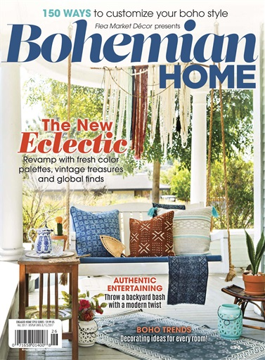 Flea market d cor magazine fmd bohemian home 2017 for Home living magazines