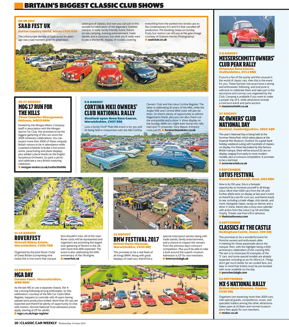 Classic Car Weekly Magazine 14th June 2017 Subscriptions Pocketmags