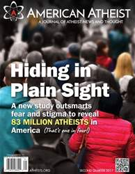 American Atheist issue 2nd Quarter 2017