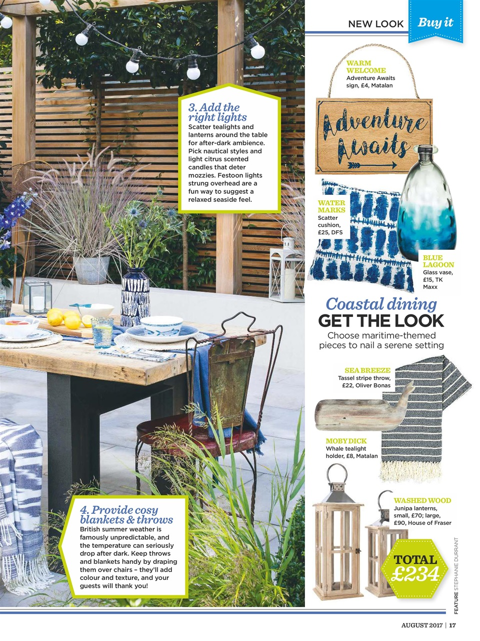 Style at home magazine august 2017 subscriptions for Style at home august 2017