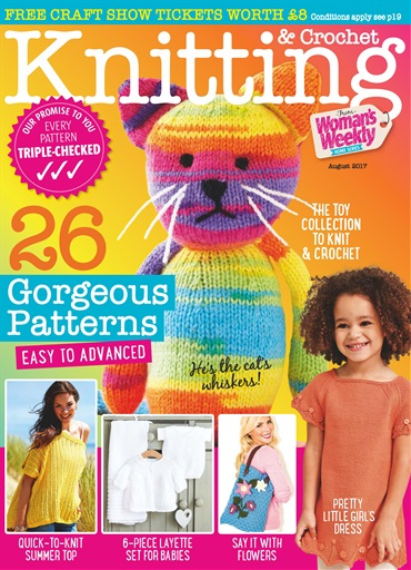 Knitting And Crochet Magazine : Knitting crochet magazine august subscriptions